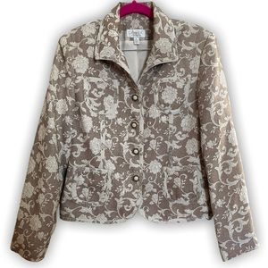 Conrad C Collection Jacquard floral vintage jacket